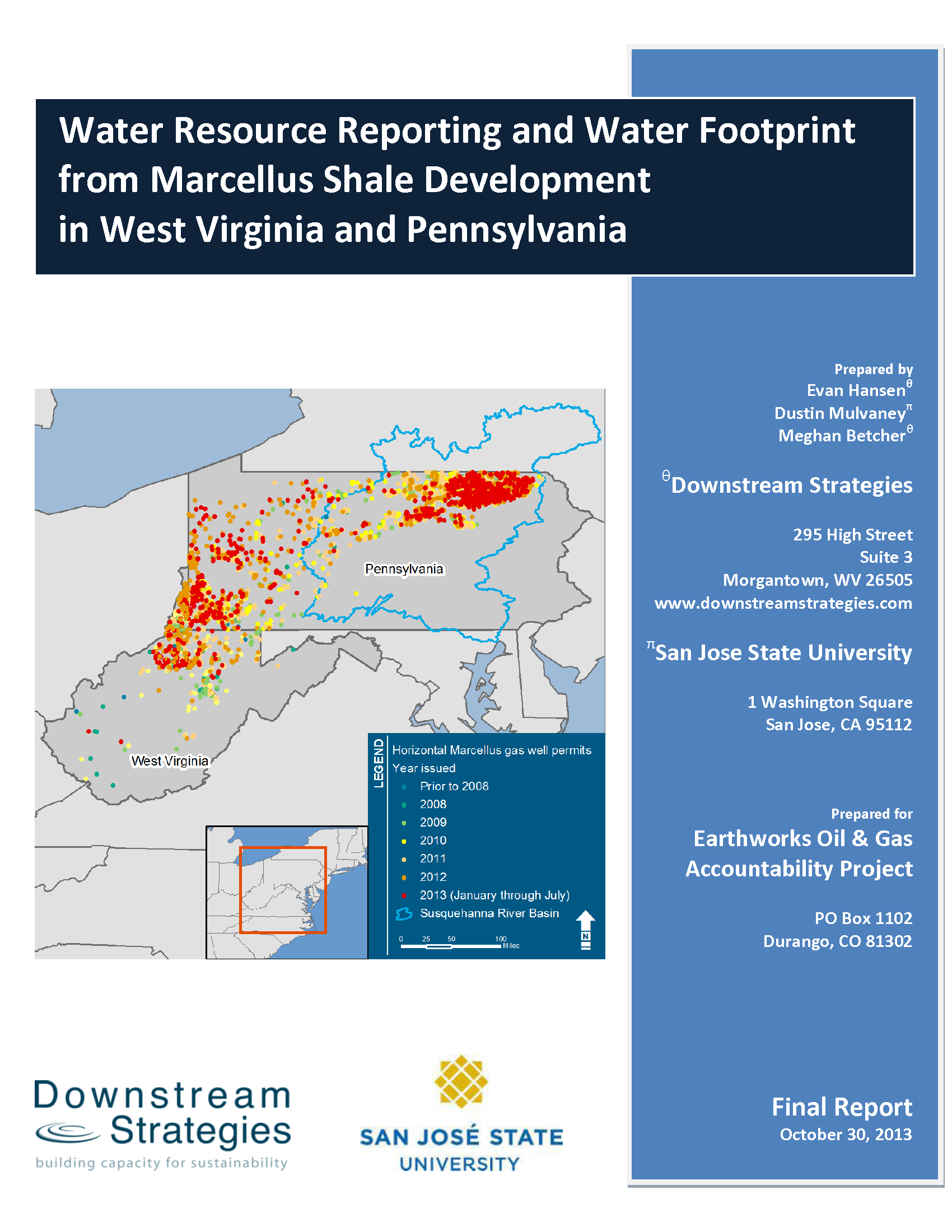 Downstream Strategies Projects Important Basic Concepts Of Residential Electrical Wiring San Jose 21mb Water Resource Reporting And Footprint From Marcellus Shale Development In West Virginia Pennsylvania 2013